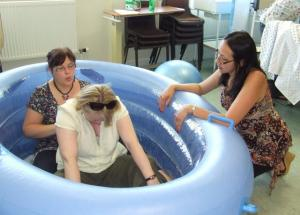 Women in a birthing pool