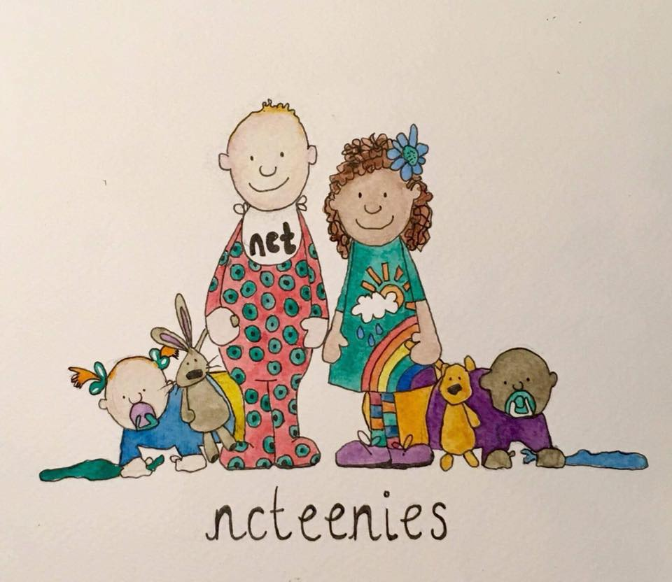 Drawing of children and their teddies at NCT toddler group