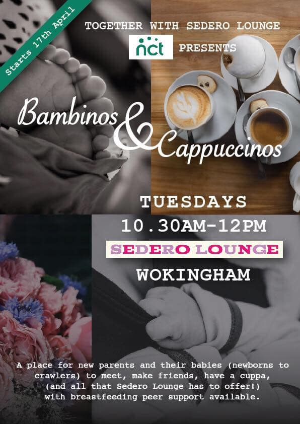 Bambinos and cappucinos leaflet