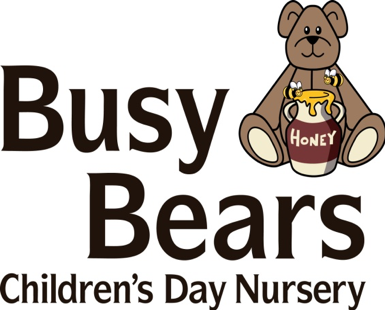 Logo for Busy Bears Children's Day Nursery featuring a Bear