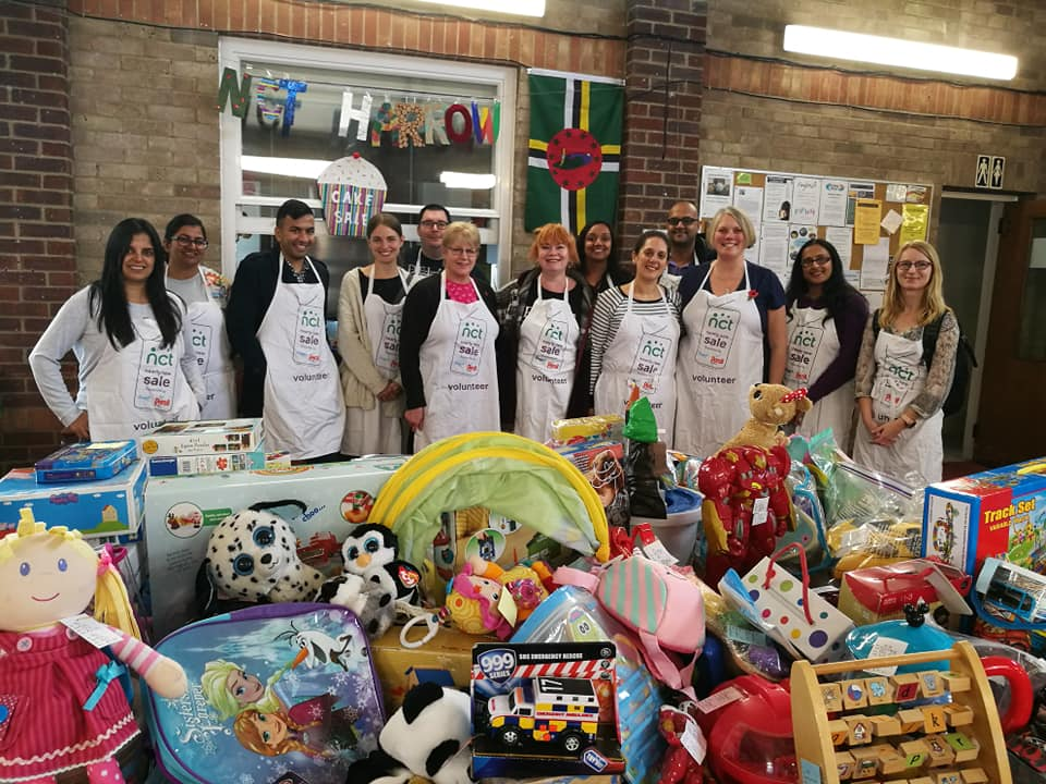 Volunteers at Harrow's Nearly New Sale