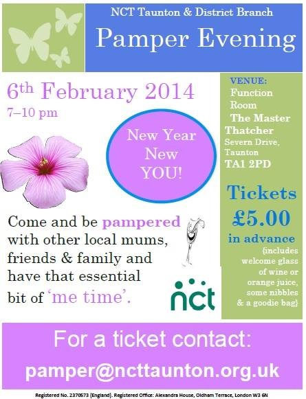 Pamper evening poster