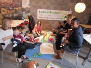 Mums and Babies enjoying our Ikea Bumps and Babies group