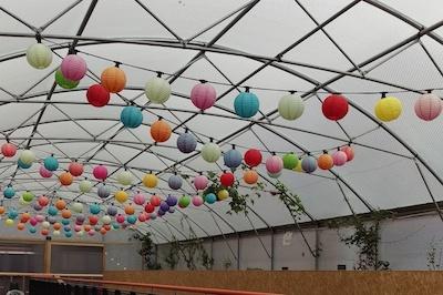 Pop Brixton coloured lanterns