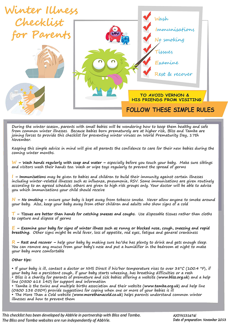 What to do if your child has a temperature or a fever nct winter illness checklist for parents nvjuhfo Gallery
