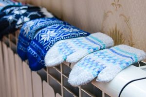 Mittens drying