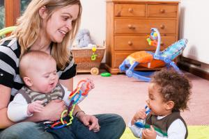 childminder with kids
