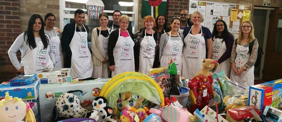 Harrow team at the Nearly New Sale