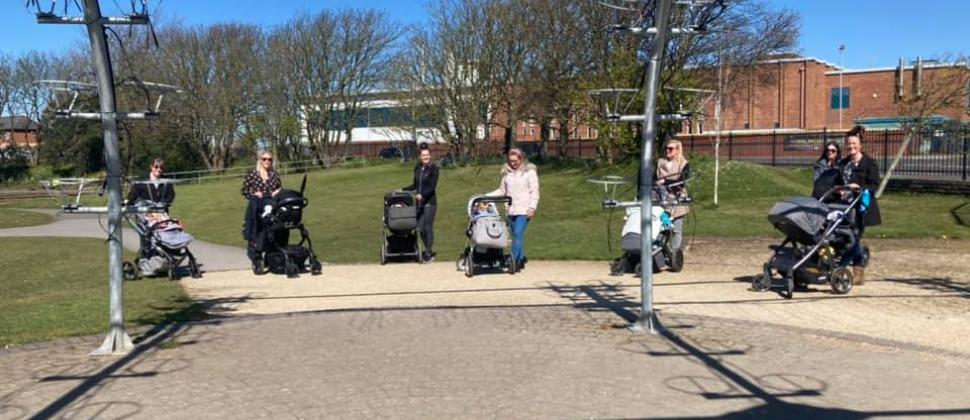 NCT Walk & Talk baby group in Southport Hesketh Park