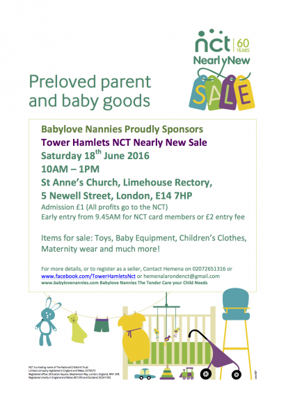 Our next Nearly New Sale 18th June 2016